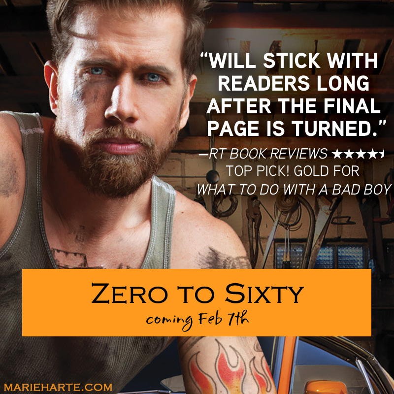 Zero to Sixty by Marie Harte New Release & #Giveaway
